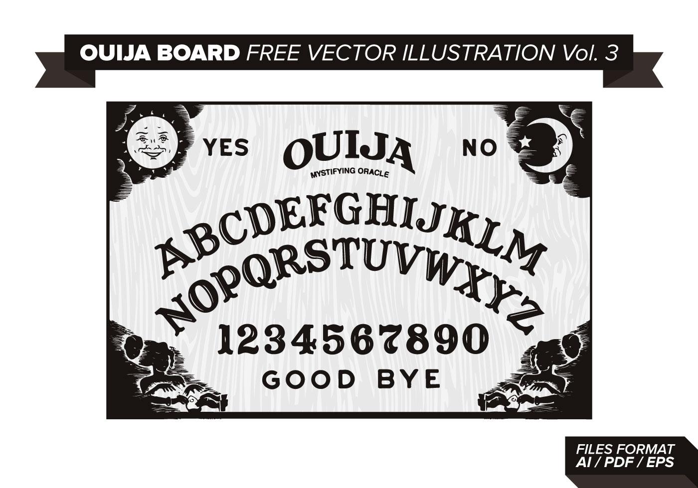 Ouija Board Free Vector Illustration Vol. 3.