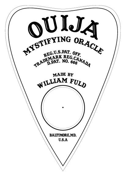 Static: Laser Etched/Engraved Ouija Board on Plex.