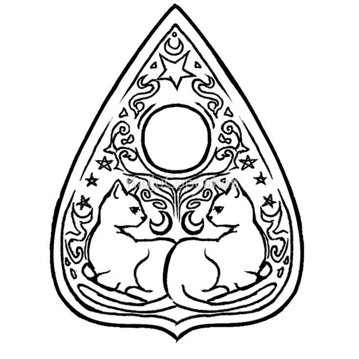 Ouija Board Drawing.