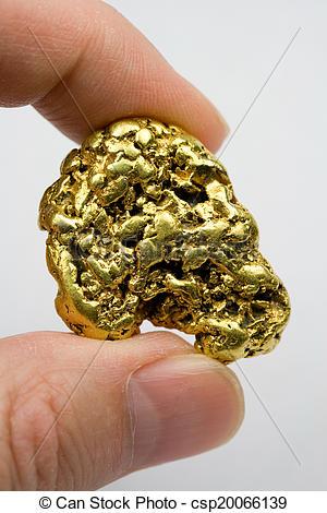 Stock Photos of One Ounce California Gold Nugget.