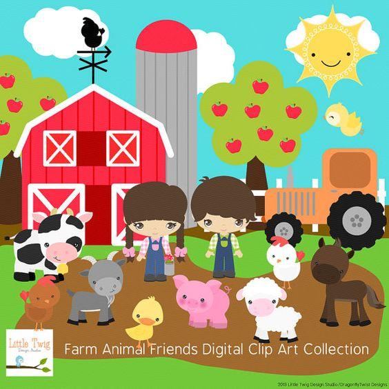 Our Farm Animals Digital clip art Clipart Collection.