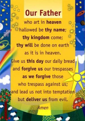 Our Father Prayer Clipart.