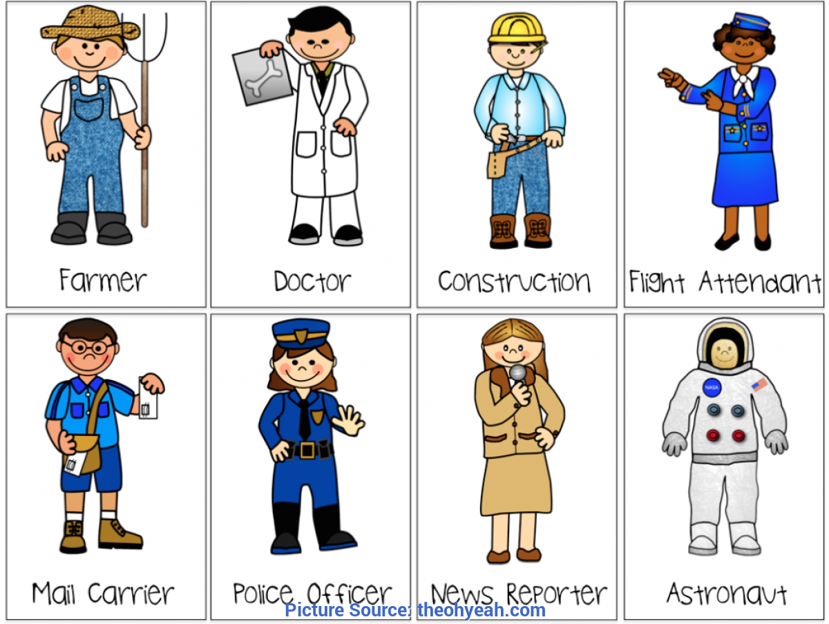 Excellent Community Helper Cards Images Of Community Helpers.