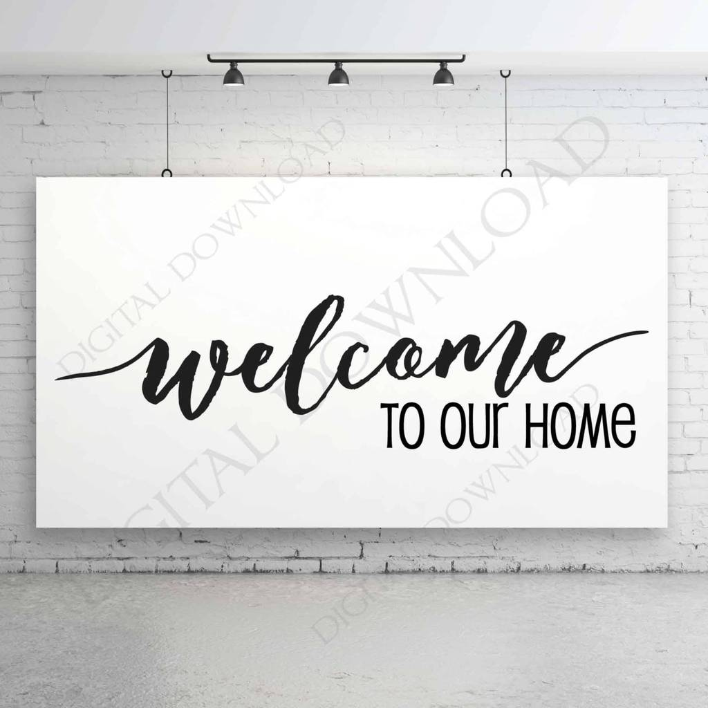 Welcome to our home Design Vector Clipart.
