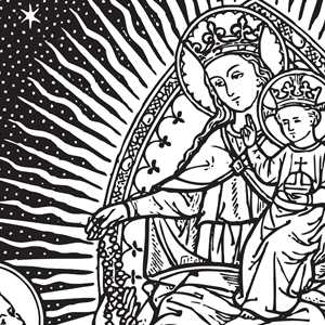 Our Lady Of The Rosary Clipart.