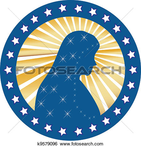 Clip Art of Our Lady of Fatima Virgen Mary seal k9579096.