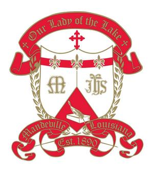 Coat of Arms: Our Lady of the Lake Roman Catholic School.
