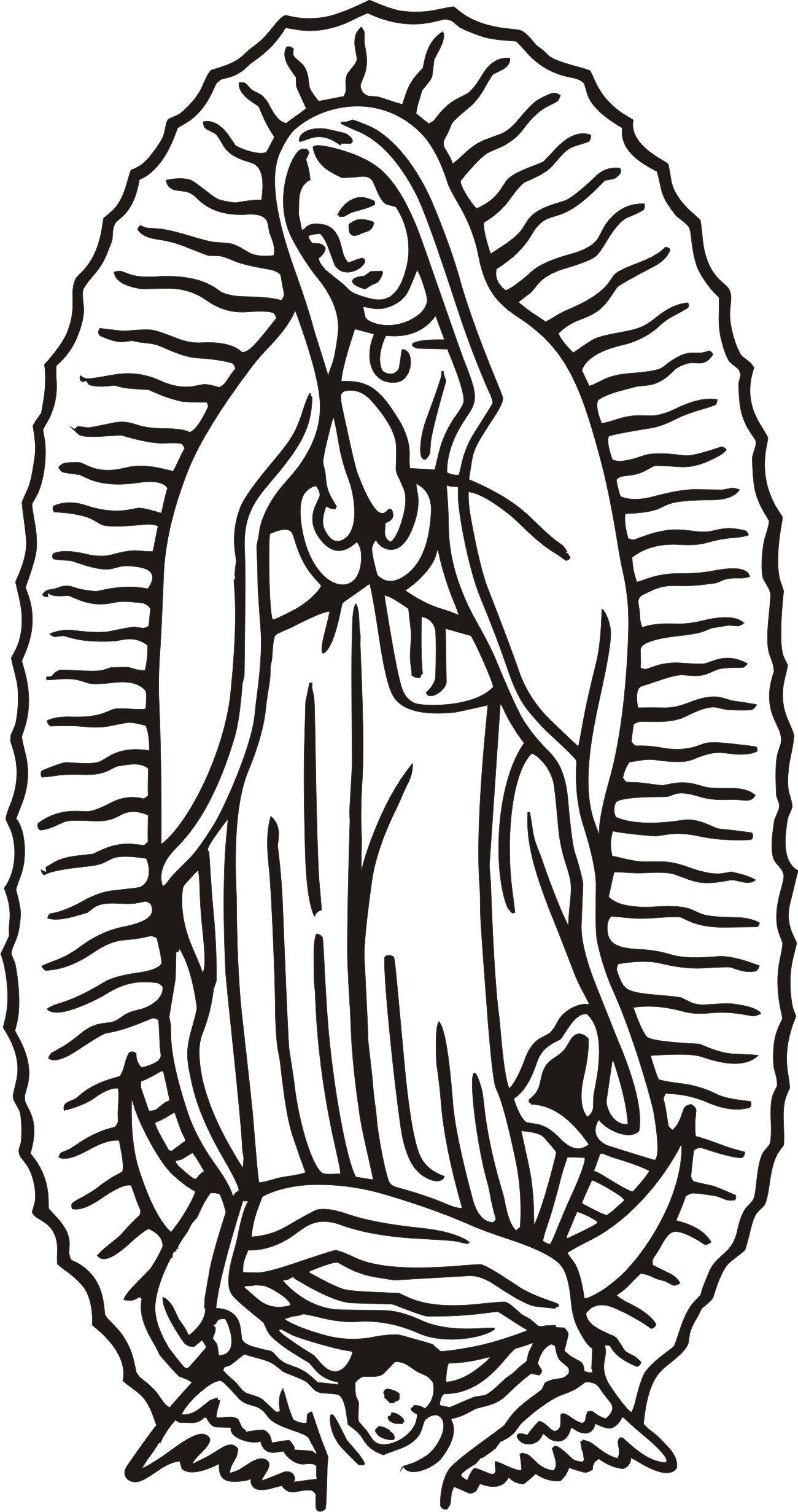 Virgen De Guadalupe Coloring Page.