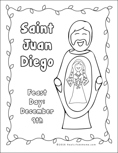 Our Lady of Guadalupe Printables and Worksheet Packet.