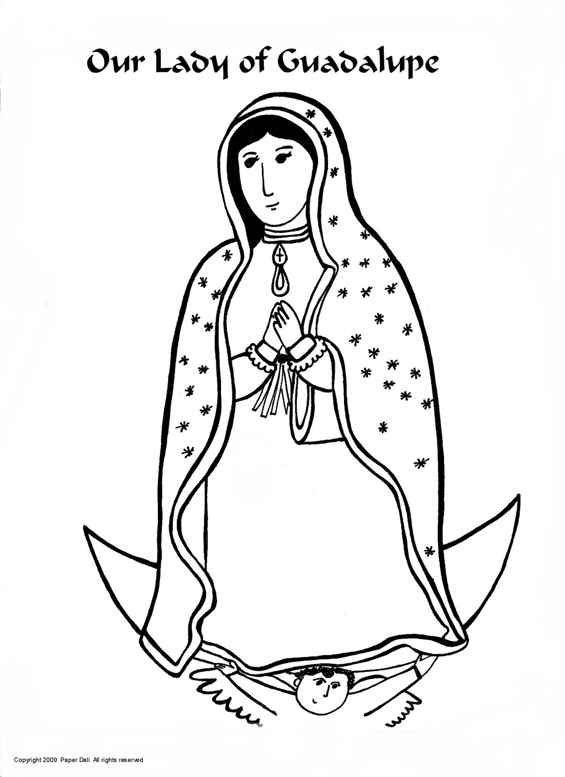 Our Lady of Guadalupe Coloring Activity.