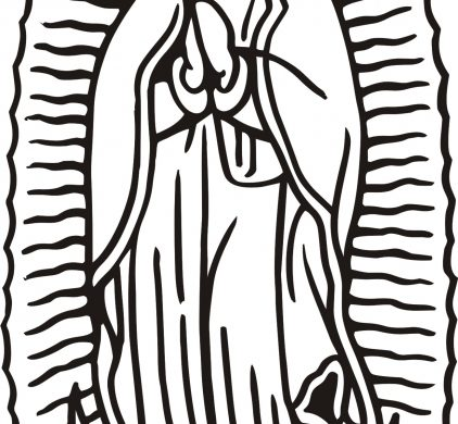 our lady of guadalupe clipart.