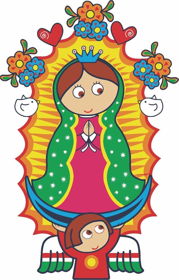 2 Pieces Our Lady Of Guadalupe Virgen Decals Stickers Full.