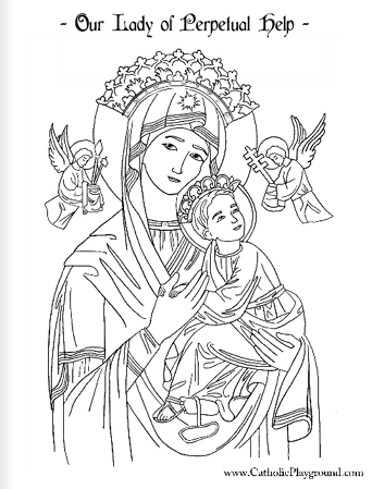 our lady of guadalupe coloring page. free printable on catholic.