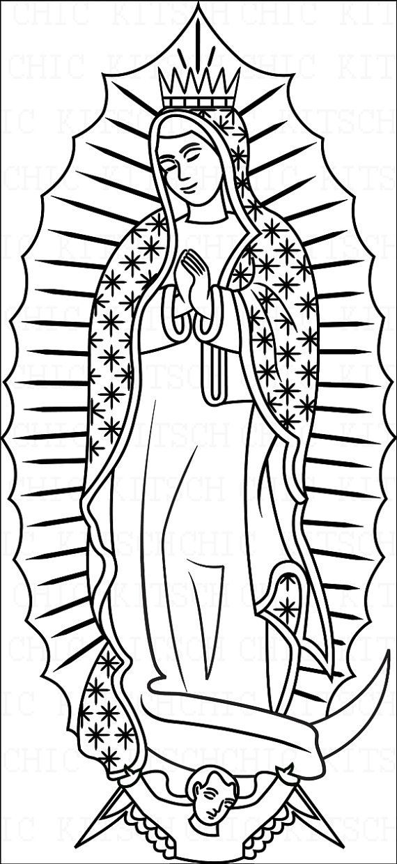 our lady of guadalupe clipart color - Clipground