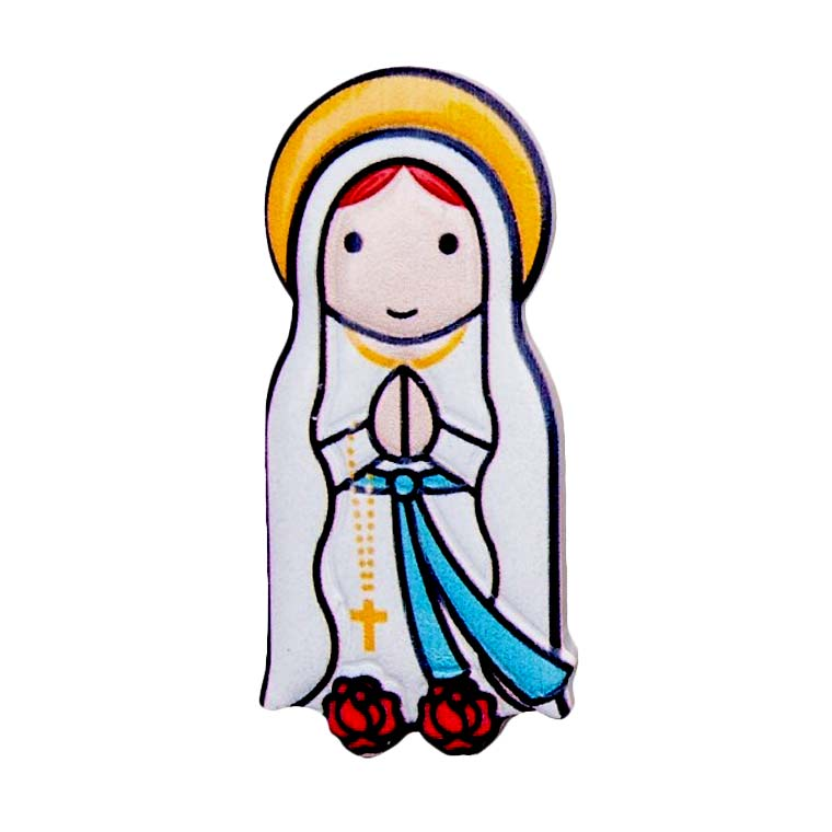 3D Magnet of Our Lady of Lourdes.