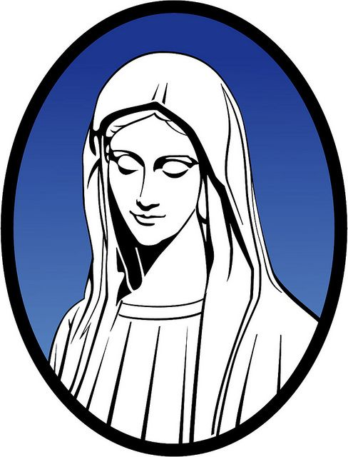 Mary Mother Of Jesus Vector Illustration..