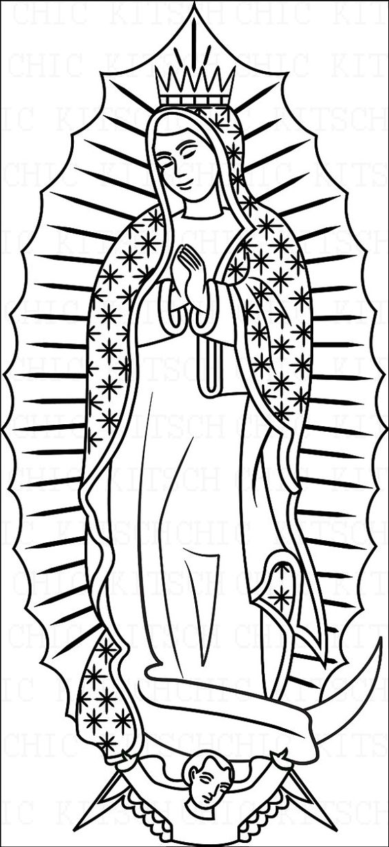 Our Lady Of Guadalupe Coloring Page.