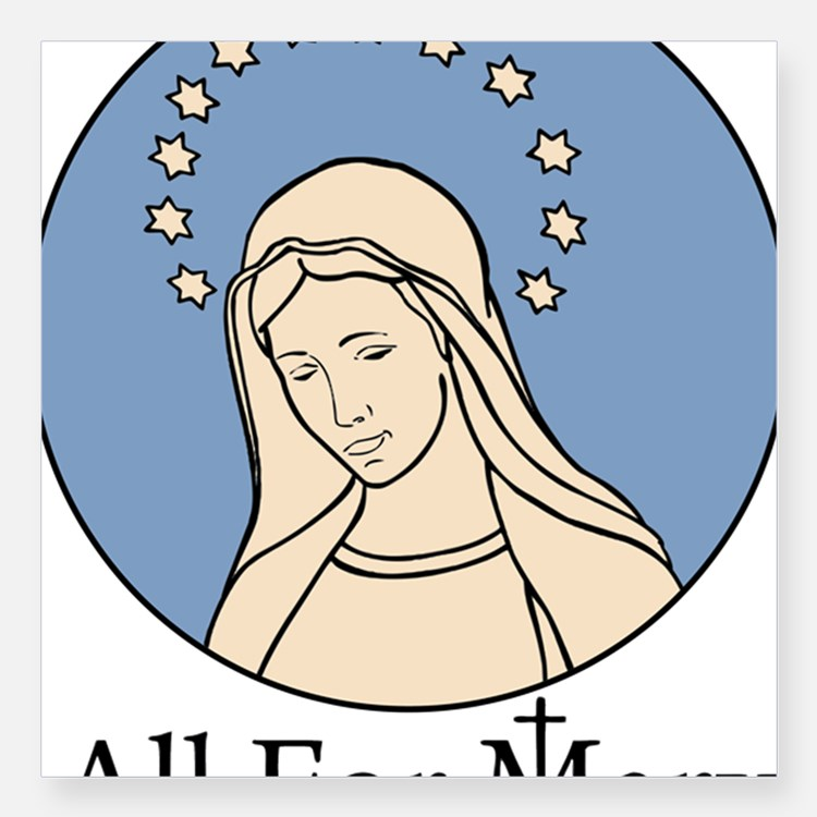 Our Lady Medjugorje Stickers.