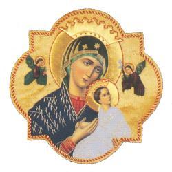 "Our Lady of Perpetual Help Applique Symbol/Emblem (9"" x 9"")."