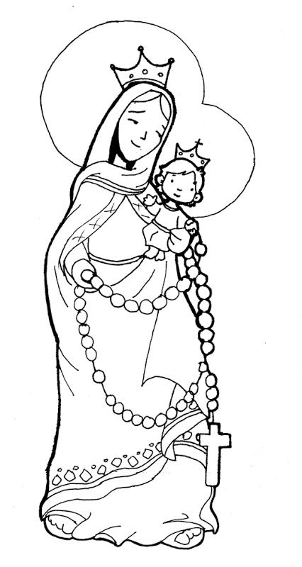 Our lady of the rosary download free clip art with a.