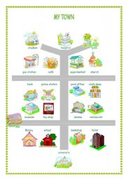 English teaching worksheets: The city.