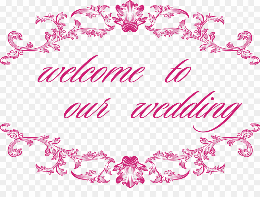 Welcome To Our Wedding PNG Wedding Invitation Clipart.