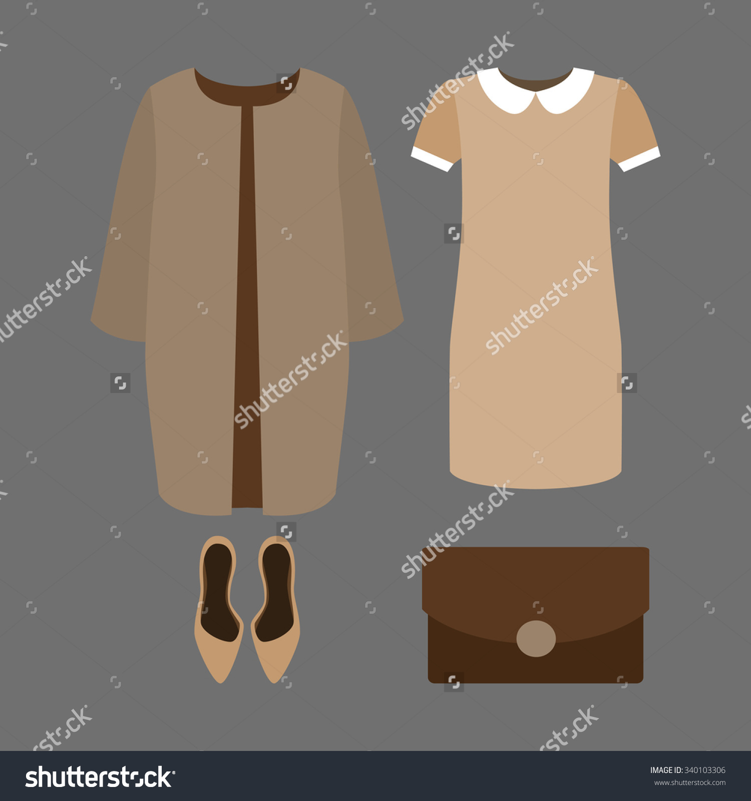 Our women coat clipart #13