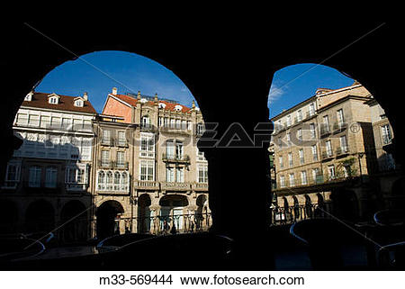 Stock Photo of Main Square, Ourense. Galicia, Spain m33.