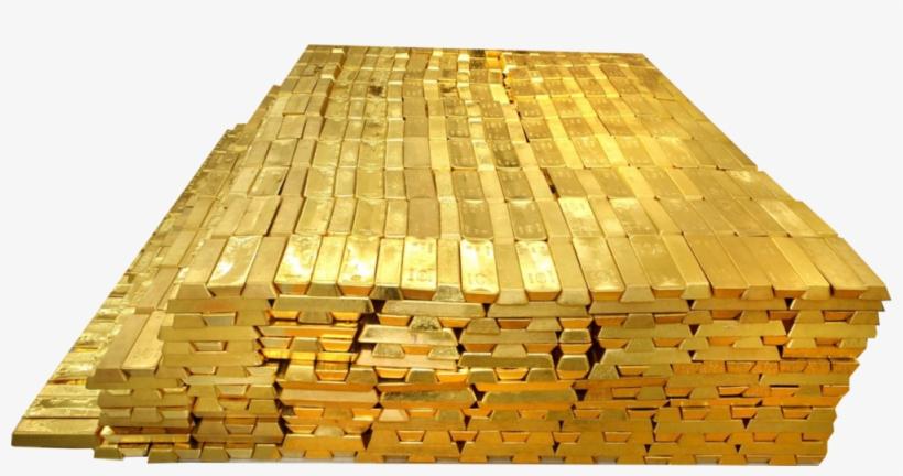 Gold Bricks Transparent Image.