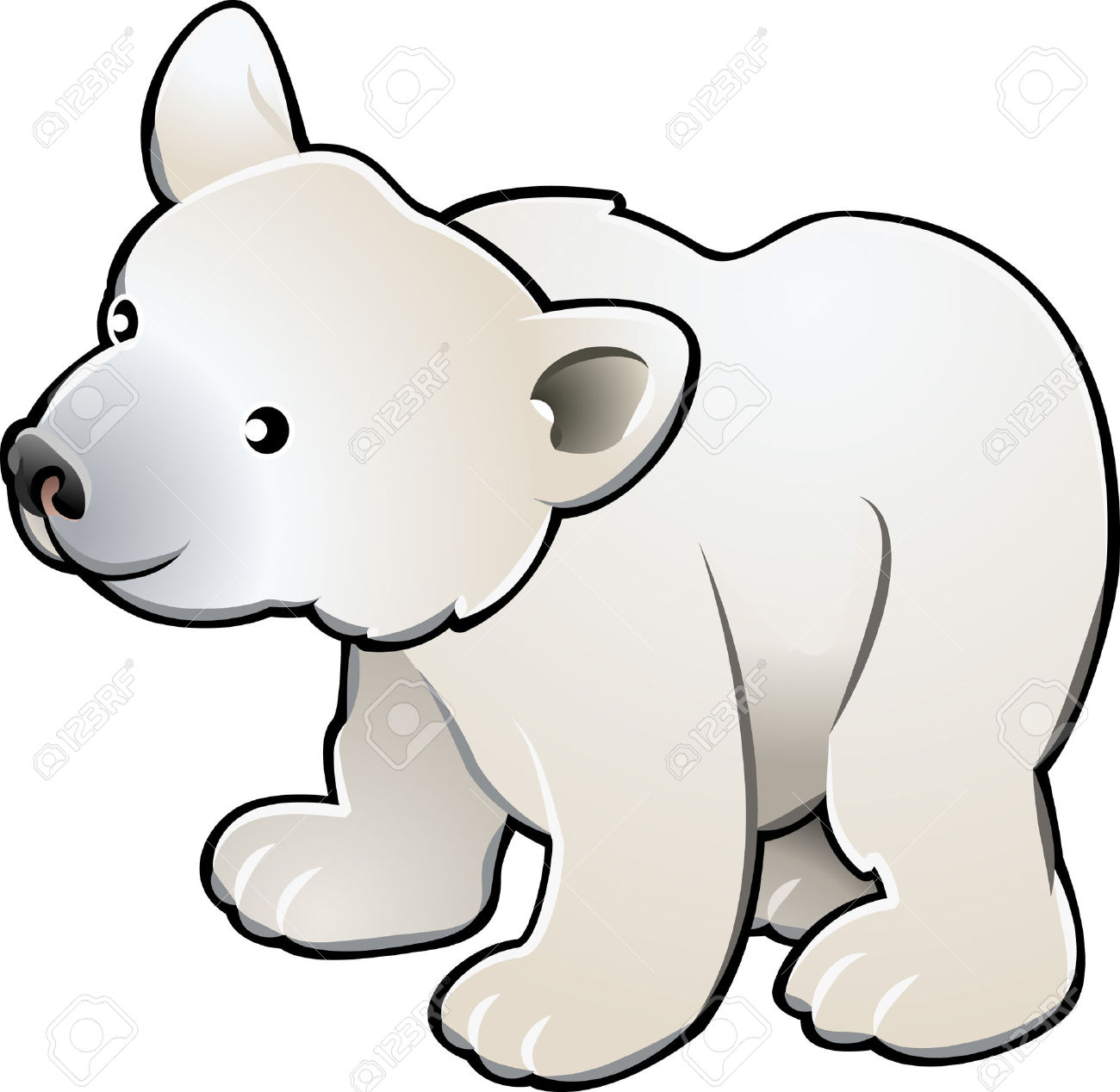 Clipart ours polaire.
