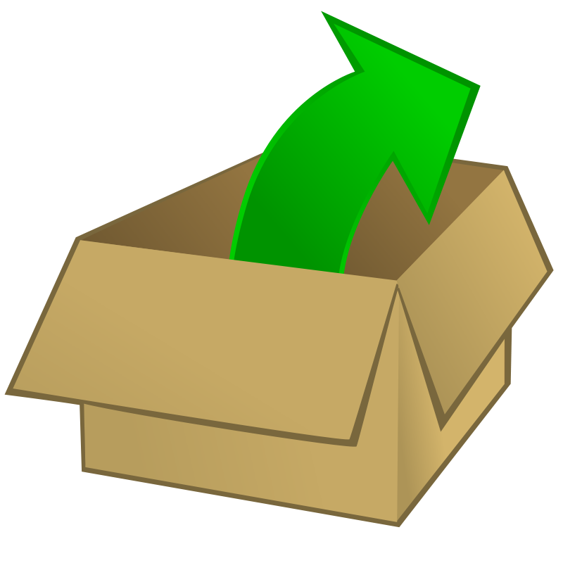 Free Clipart: Out of the box.