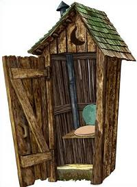 Free Outhouse Clipart.