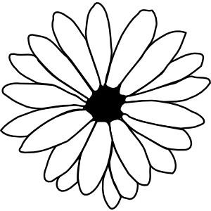 Flower Outline clip art.