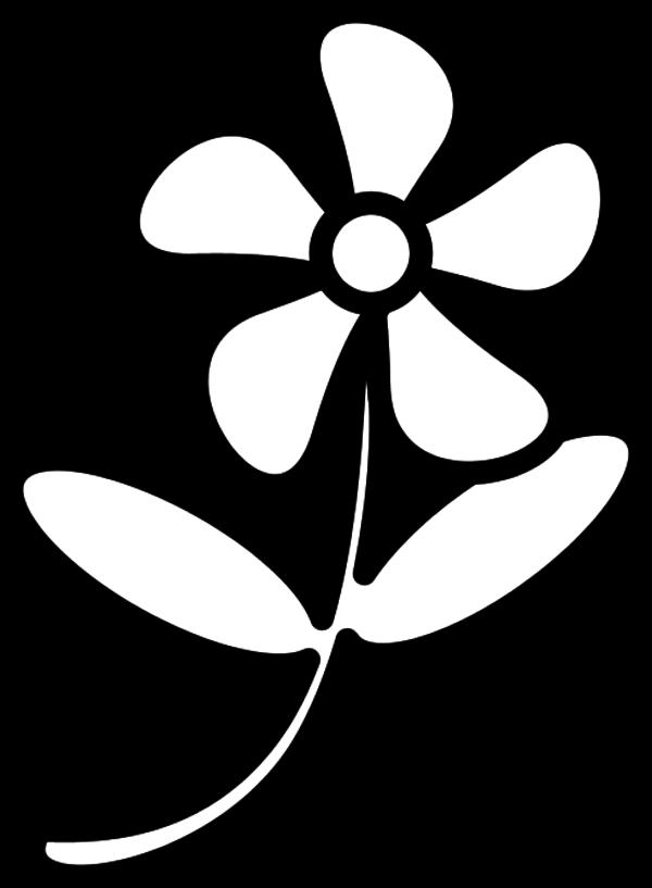 Free flower clipart outline.
