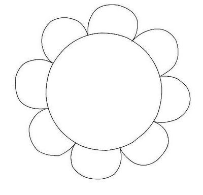 Free flower clipart outline.