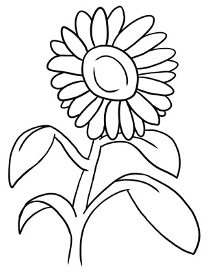 Free Flower Clip Art Outline #.