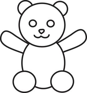 Teddy Bear Outline Clipart.
