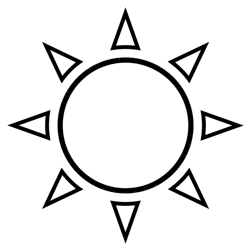 Clipart Sun Outline.