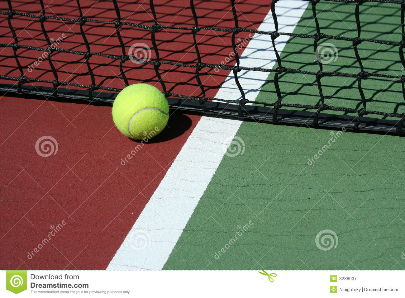 Tennis Ball Out Of Bounds Royalty Free Stock Photography.