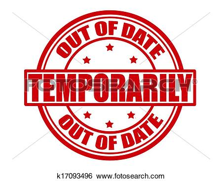 Clip Art of Out of date k17093496.