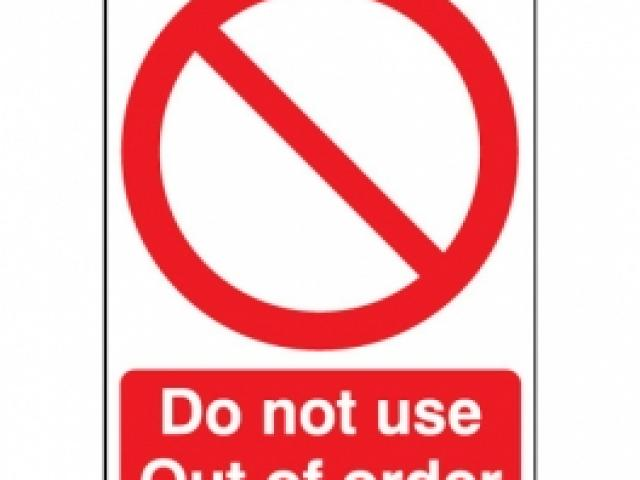 Blank Warning Sign.