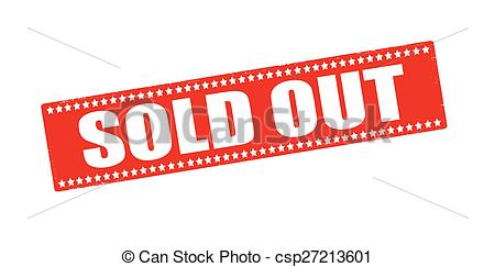 Vector Clipart of Sold out.