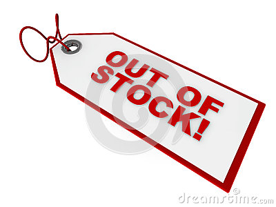 Out Of Stock Tag Stock Illustration.