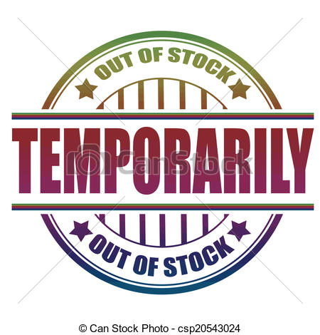 Vector Illustration of out of stock temporarily stamp.
