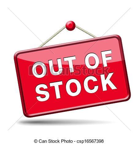 Stock Illustration of out of stock icon or sign limited edition.