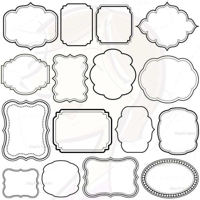 16 Digital Clip Art Frames Clipart Decoration Borders Download.