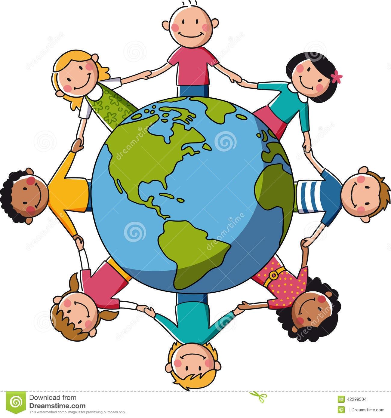 Children Around The World Clipart.