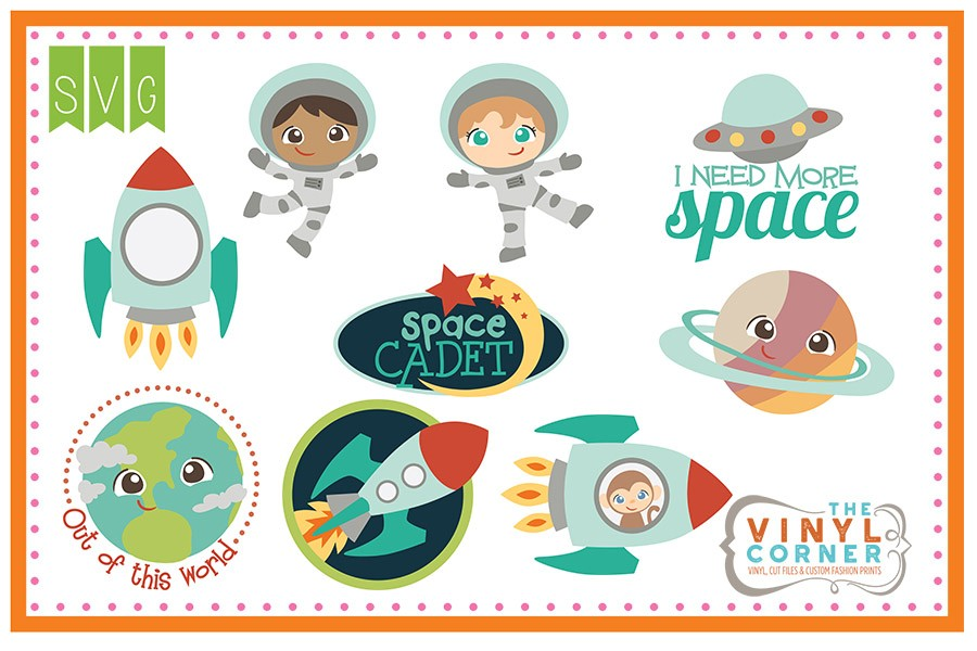 Applique Corner Out Of This World Cuttable Design Set.