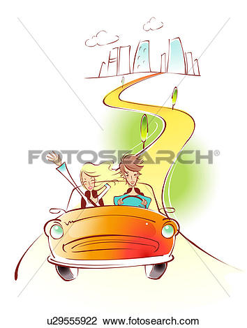 Clip Art of Getting Out Of Town u29555922.