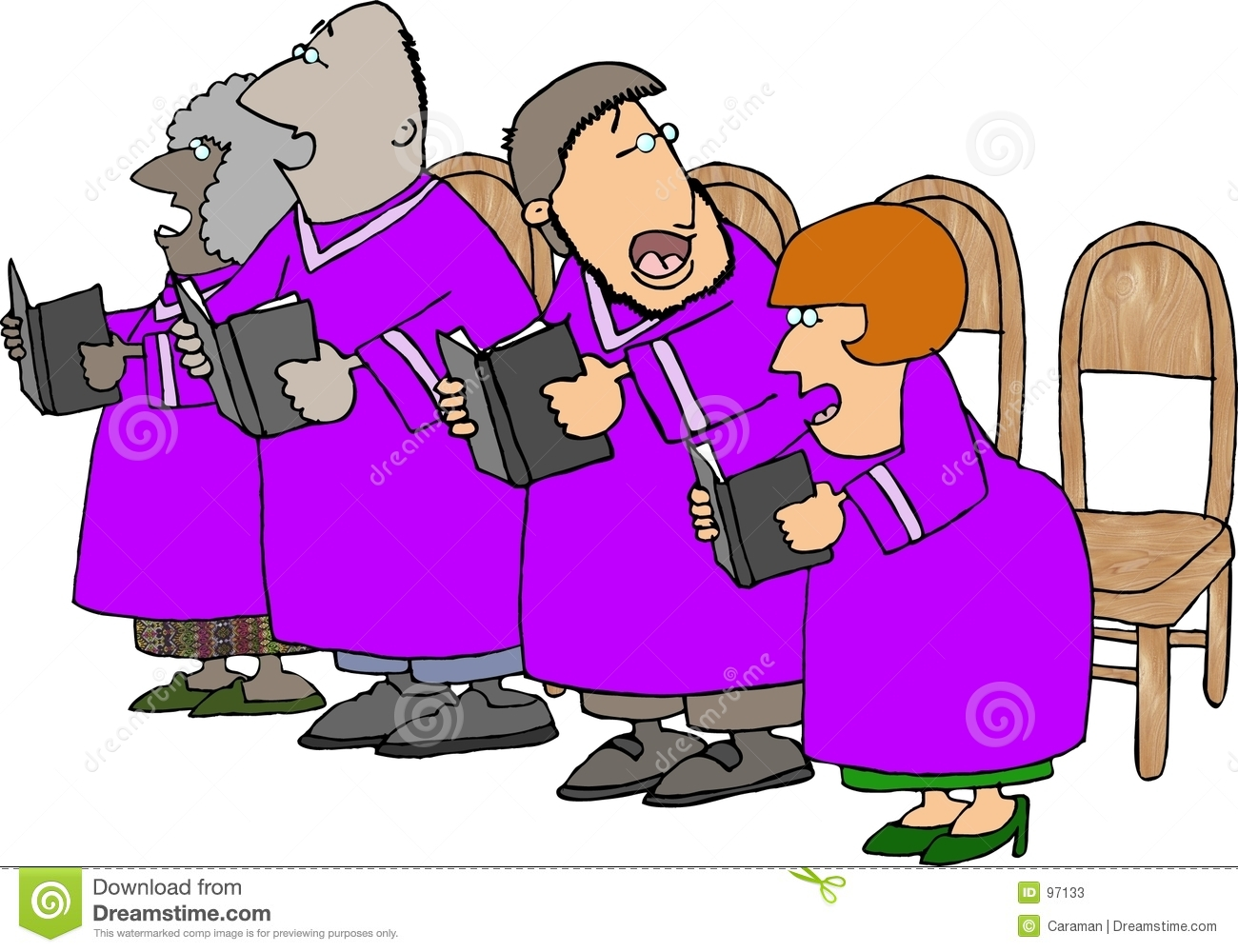 Out Of Tune Choir Stock Photos.